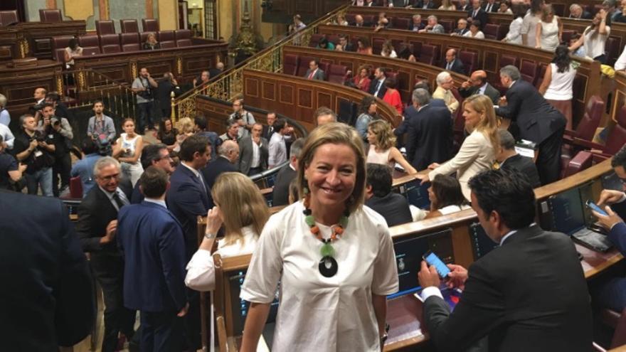 Oramas durante la sesión constitutiva de la XII Legislatura en el Congreso.