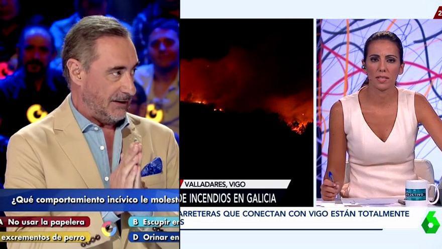 Herrera en su estreno en TVE, y Ana Pastor volcada en Galicia