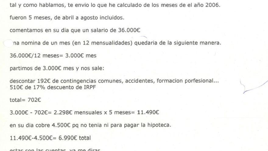 Email de Josu Montés a Alfredo de Miguel