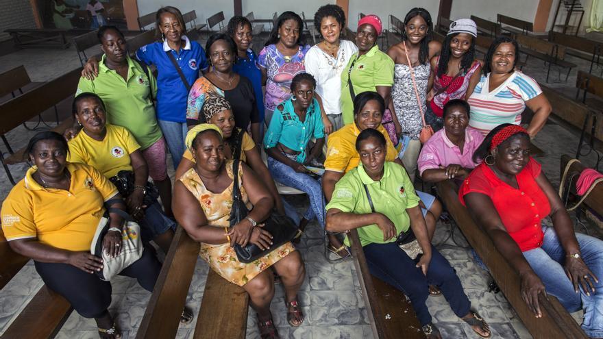 Coordinadoras de la Red Mariposas de Alas Nuevas Construyendo Futuro, ganadoras del Premio Nansen para los Refugiados 2014 / Fotografía: ACNUR/ L.Zanetti