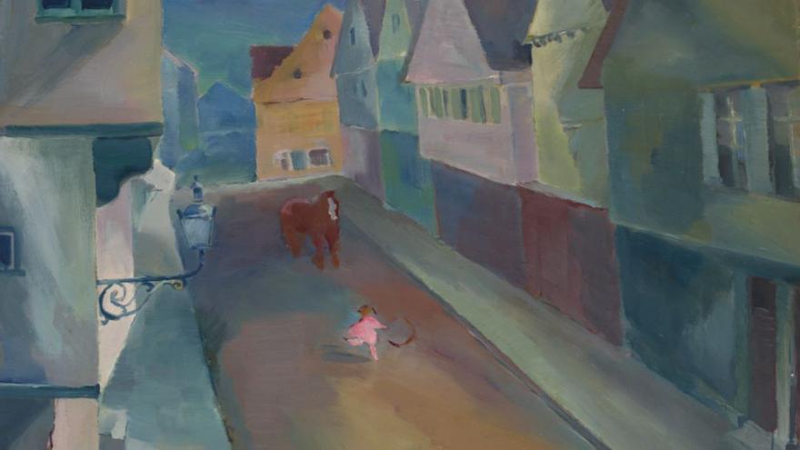 'Una calle en Murnau' de Wassily Kandinsky. Centro de Arte Moderno y Contemporáneo - Colección Roberto Polo, Toledo