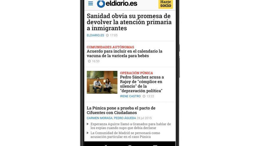 Versión móvil de eldiario.es