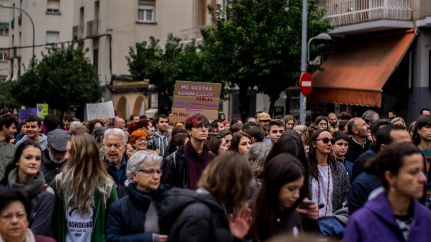 Protesta en Badajoz contra 'La Manada' / HAG
