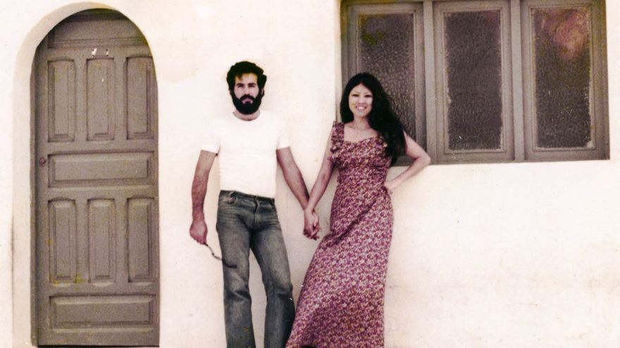 Sanmao y su marido, José María Quero.