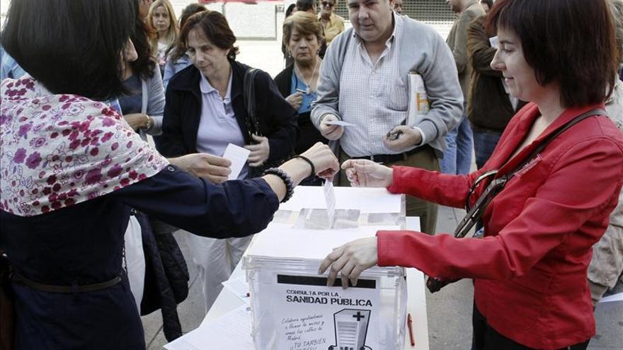 La consulta sobre la sanidad madrileña cierra con más de un millón de votos