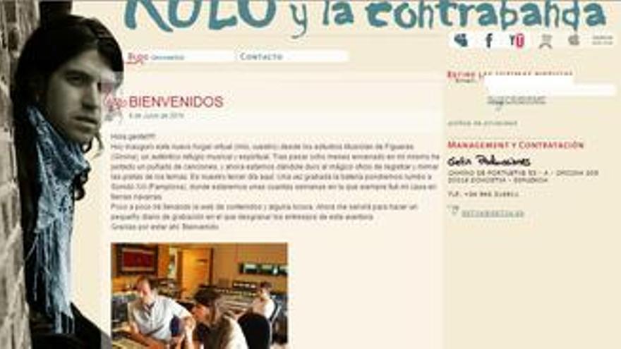 Captura de la web de Rulo y la Contrabanda