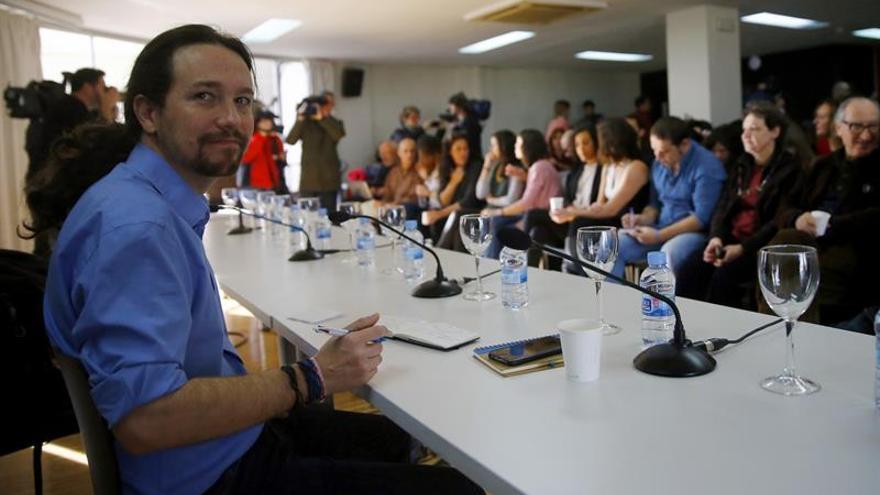 Pablo Iglesias preside su primer Consejo Ciudadano de Podemos tras su reelección.