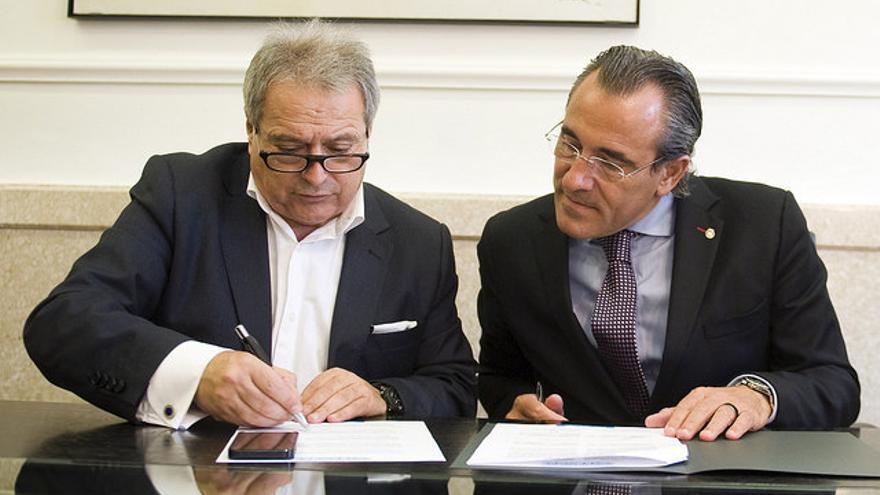 Alfonso Rus, alcalde de Xàtiva, y Arturo Torró, alcalde de Gandia