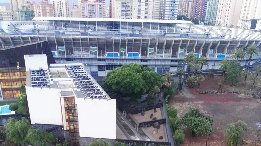 Estado del barranco de Santos a la altura del Hotel Escuela de Santa Cruz