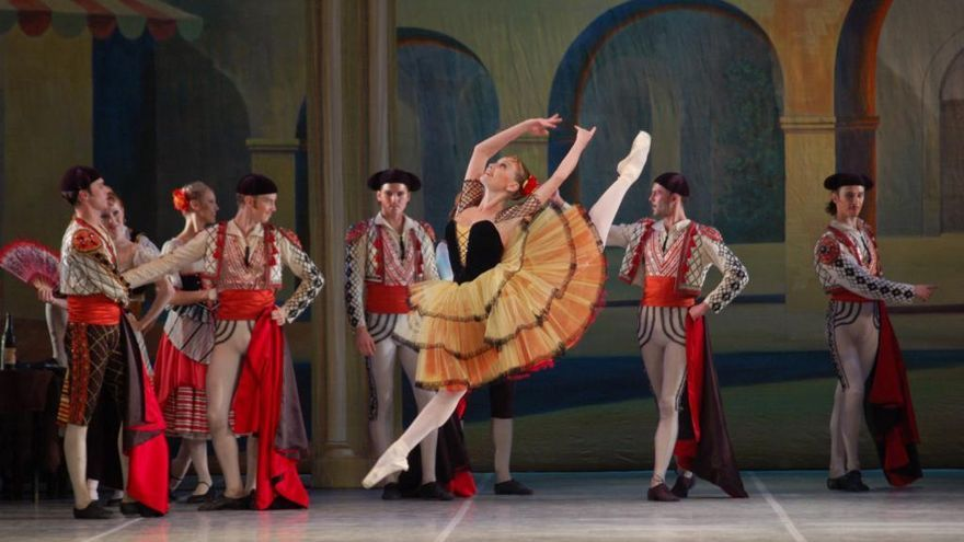 Imagen de una representación de 'Don Quijote' por el Ballet de Moscú