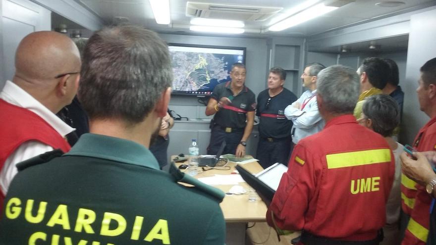 El director del PMA informa de la evolución favorable del incendio de Benitatxell
