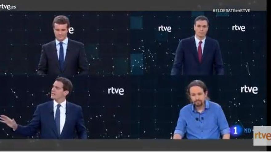 Todos en TVE: Iglesias, Casado, Rivera y Sánchez
