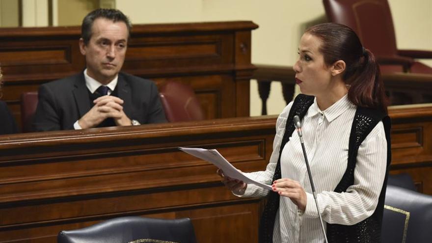 Patricia Hernández, en el Parlamento de Canarias