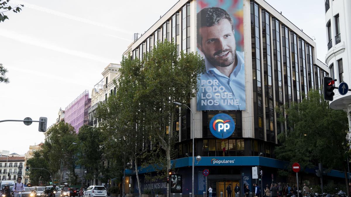 Sede nacional del PP en la calle Génova de Madrid.
