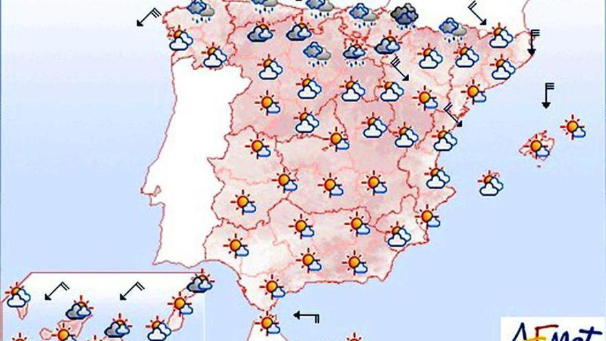 Mañana, posibilidad de lluvias persistentes en el País Vasco y el norte de Navarra