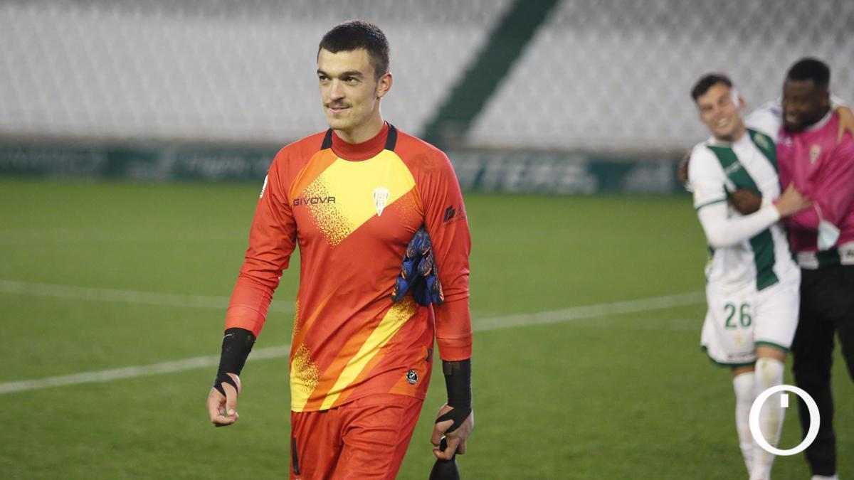 Edu Frías, tras el encuentro contra Linares Deportivo.
