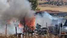 Hallan a un hombre muerto al sofocar un fuego en casa abandonada en Salamanca