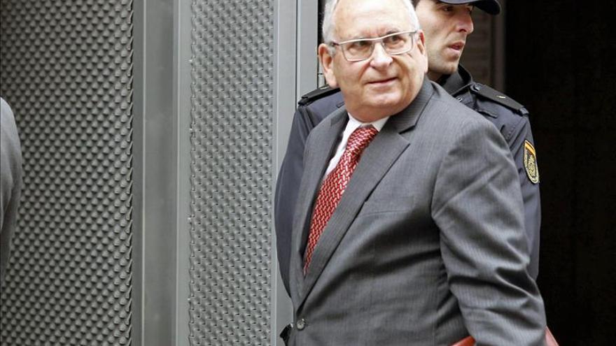 El extesorero de Alianza Popular Ángel Sanchís a su llegada a la Audiencia en septiembre