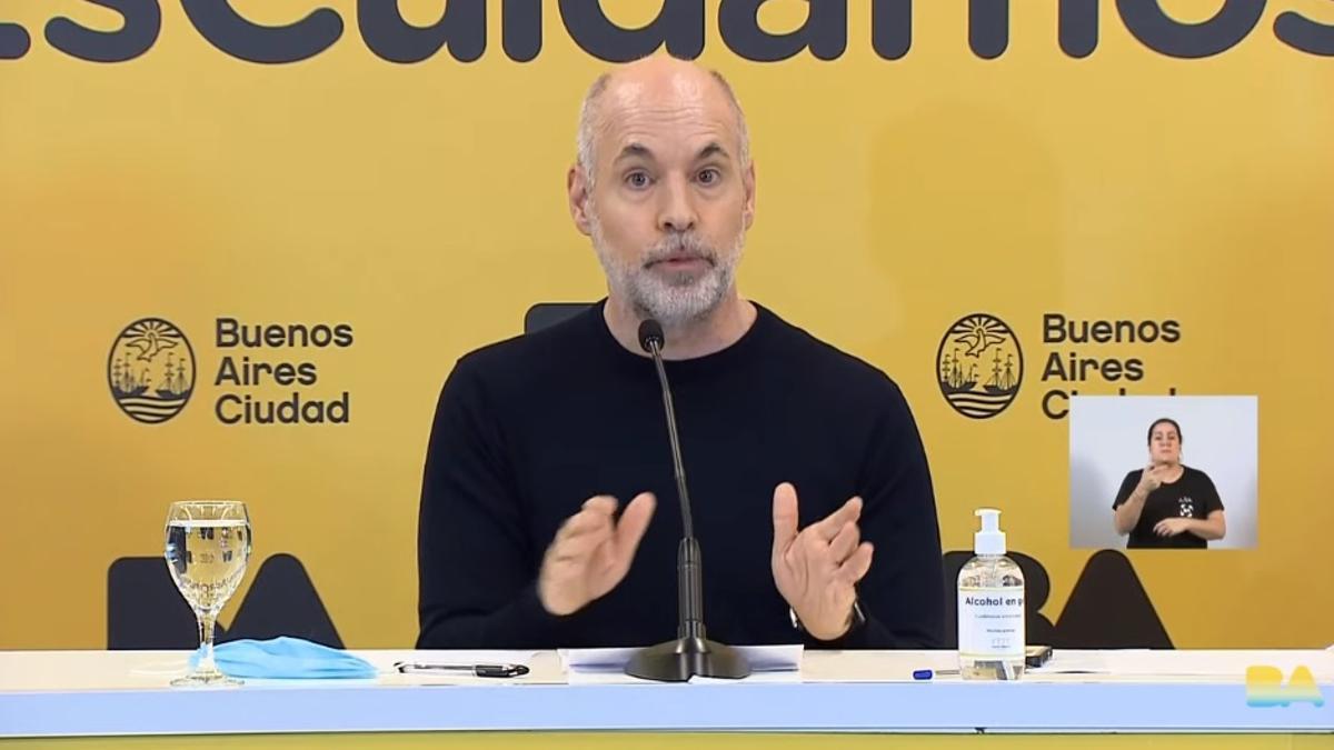 Los anuncios del jefe de Gobierno porteño, Horacio Rodríguez Larreta