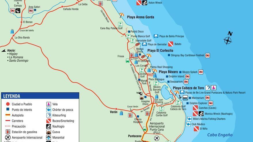 Mapa de Punta Cana (dr1.com)
