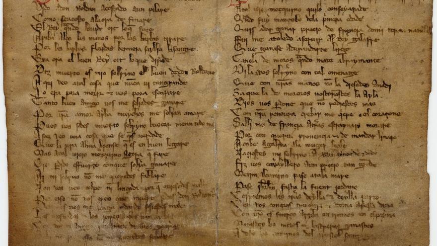 El Archivo de Navarra presta el manuscrito del Cantar de Roncesvalles para una exposición en la Biblioteca Nacional
