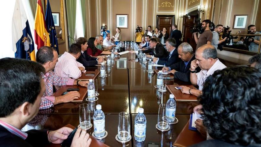 Reunión de la delegada del Gobierno en Canarias con la Mancomunidad de Municipios del Norte de Gran Canaria y con el vicepresidente del Cabildo de Gran Canaria
