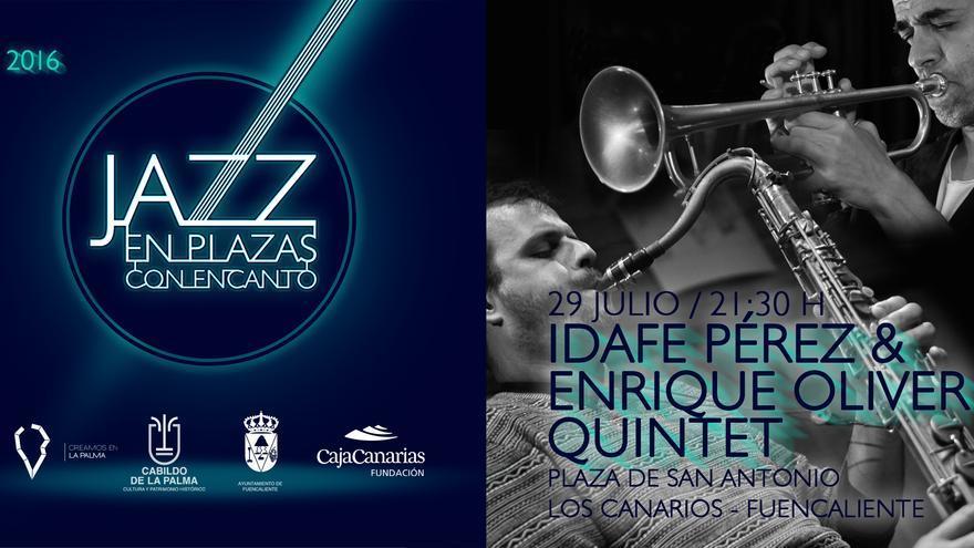Cartel del concierto en Fuencaliente.