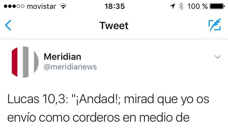 Tuit de @meridianews