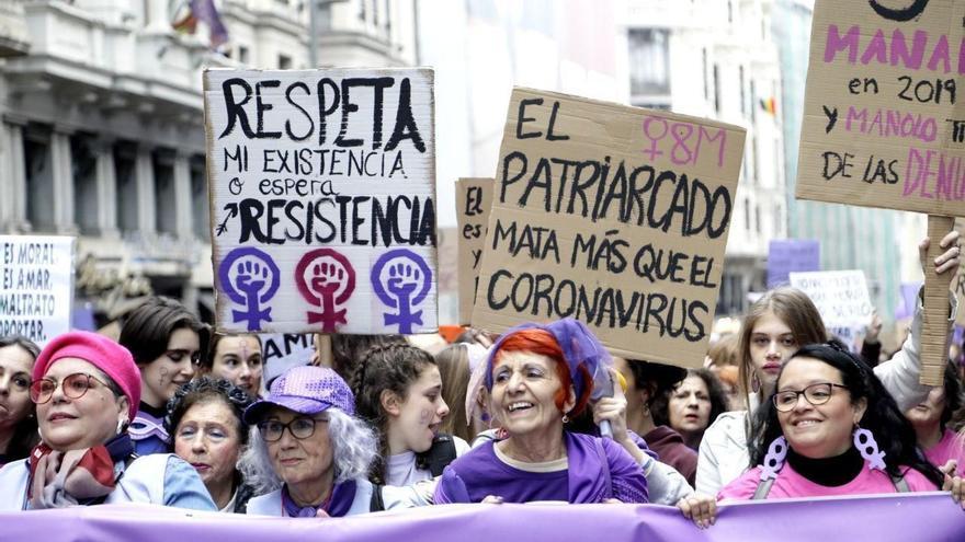Marcha del 8M en Madrid.