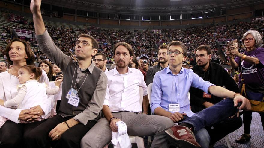 Monedero, Iglesias y Errejón en Asamblea Podemos / Marta Jara