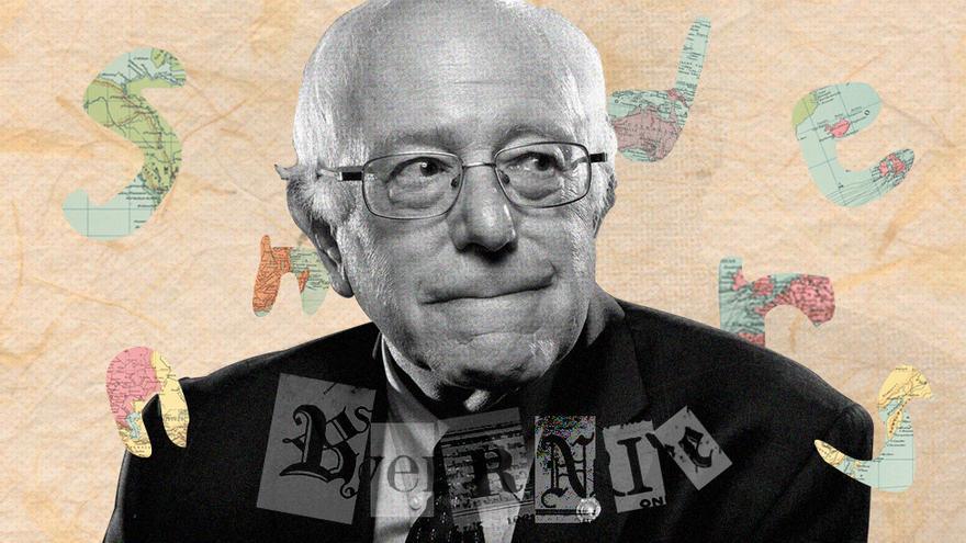 Ilustración de Bernie Sanders