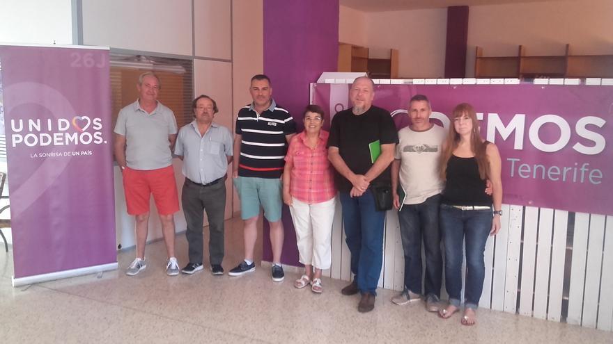 Los representantes municipales de Podemos reunidos este fin de semana en Tenerife