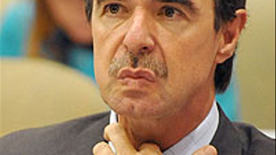 Soria, este miércoles, en el Parlamento.