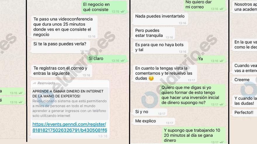 Conversaciones de WhatsApp con un representante de Awaken Dreamers