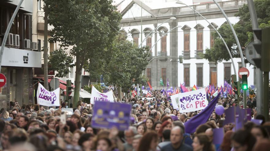 Manifestación en Santa Cruz de Tenerife