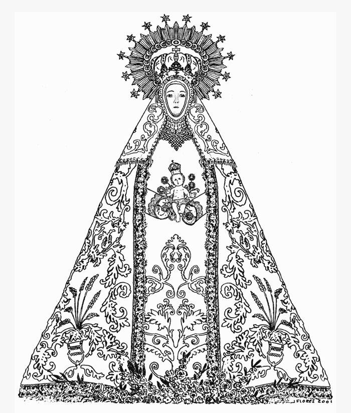 Dibujo de la Virgen de las Maravillas original