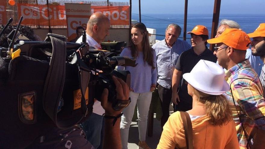 La candidata de C's al Congreso por Santa Cruz de Tenerife, Melisa Rodríguez