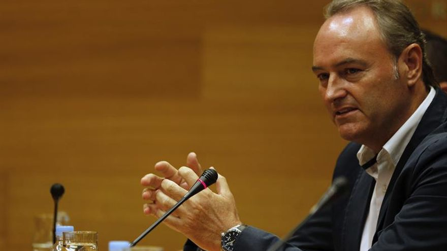Alberto Fabra durante una intervención en Les Corts Valencianes