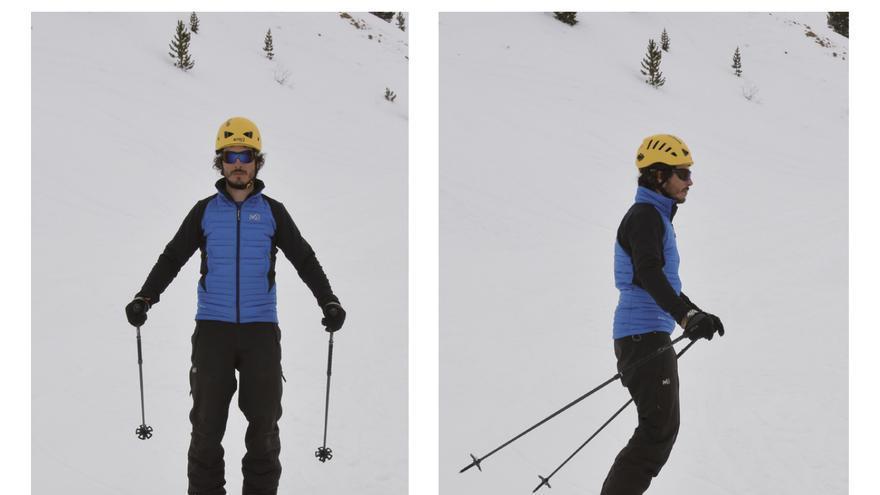 Las dos fotos inferiores representan una posición base perfeccionada, frente a la posición base normal de las fotos superiores.