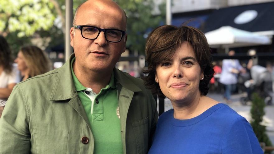 José Manuel Baltar y Soraya Sáenz de Santamaría