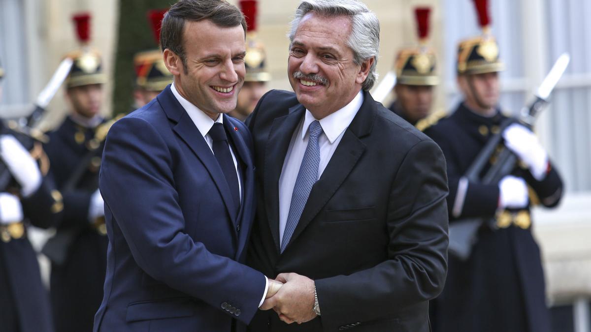 Macron y Fernández, durante la visita a Francia del presidente argentino en 2020
