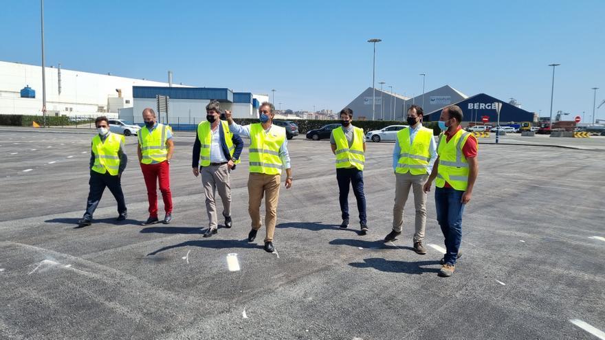 Visita al aparcamiento provisional de Concantra en el Puerto de Santander