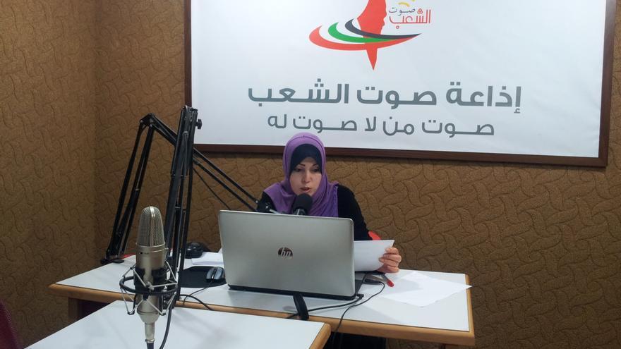 Presentadora de la radio Saut Asha'ab, Gaza / Isabel Pérez