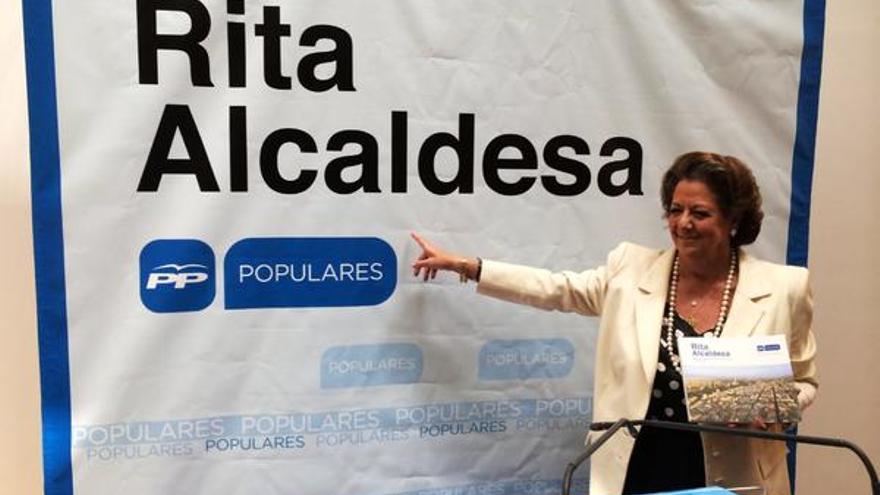 Rita Barberá, candidata a la reelección como alcaldesa de Valencia