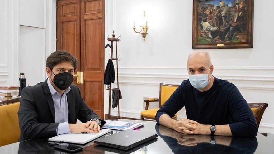 Axel Kicillof y Horacio Rodríguez Larreta, cuando todavía se sacaban fotos juntos