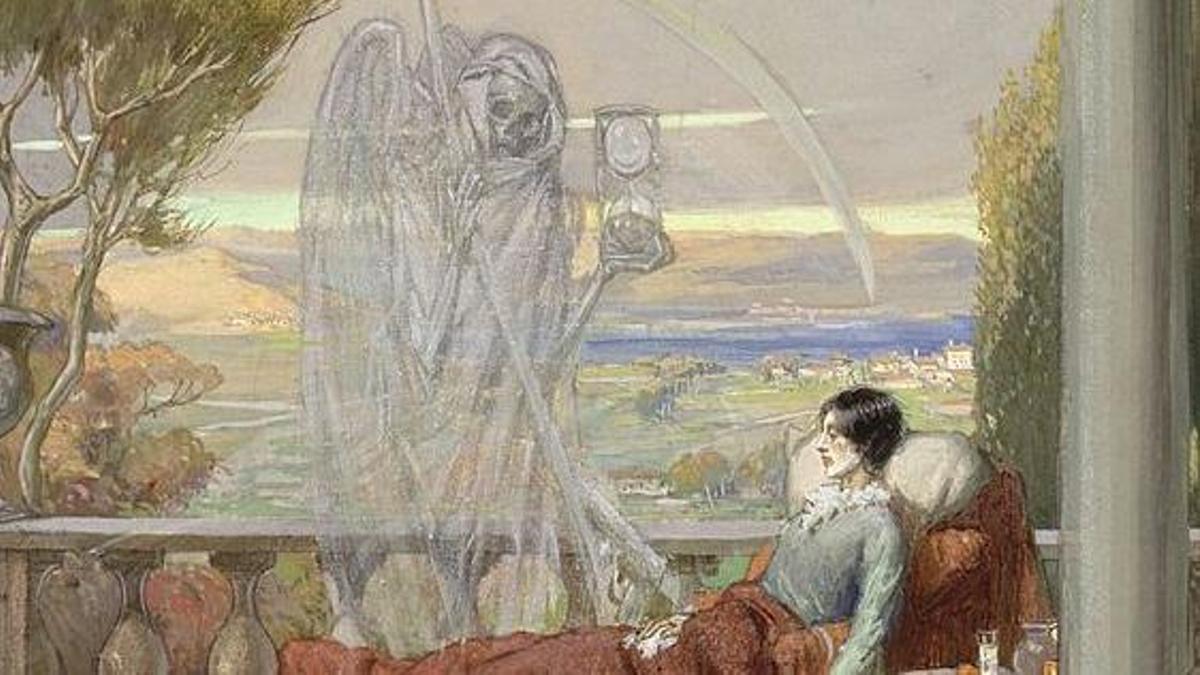 Un cuadro, pintado con acuarela, de R. Cooper