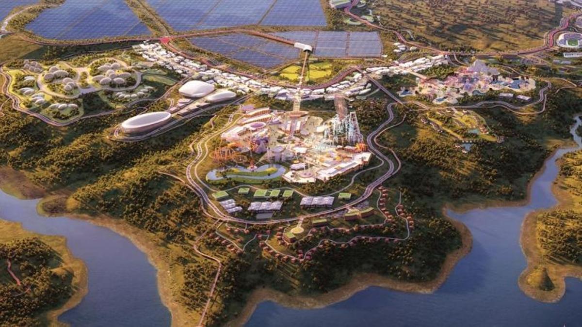 Vista general de Elysium City, la nueva ciudad que una promotora quiere construir en la comarca extremeña de la Siberia