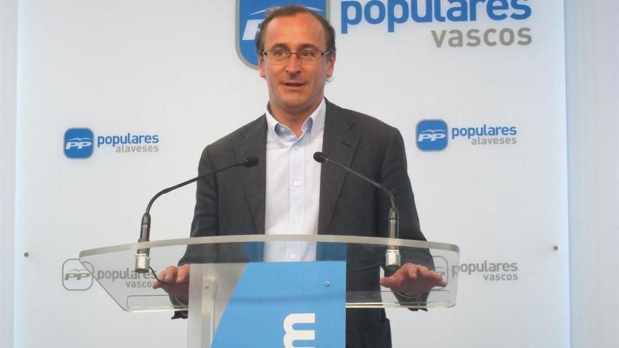 """Alonso (PP) avisa de que la excarcelación de """"criminales"""" es consecuencia de que España ha tenido """"leyes débiles"""""""