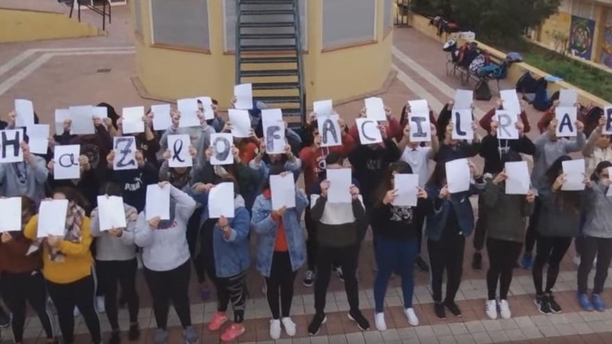 Alumnos de 1º de Bachillerato del IES La Orotava
