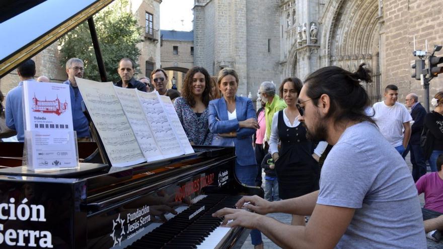 Piano en la calle en Toledo